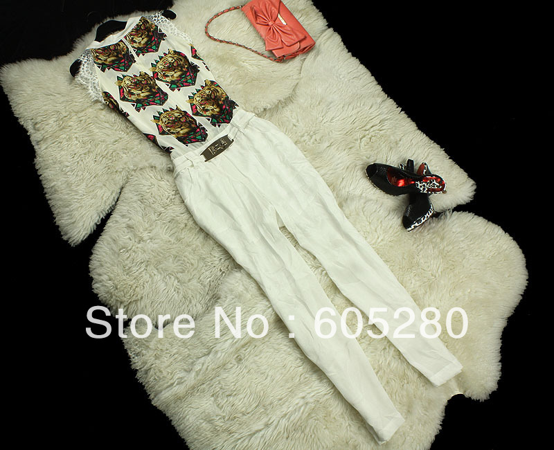 2013 new Silk printing conjoined twin pants SMLXL