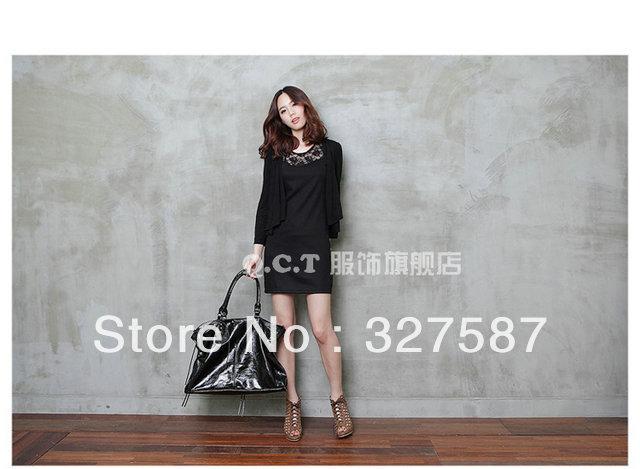 2013 New Spring women dress Lace frock black S M XL XXL XXXL XXXXL free shipping