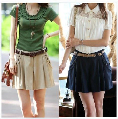 2013 new summer women's fashion casual culottes, the wild waist divided skirts big code, shorts, hot pants.