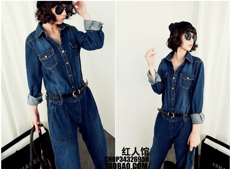 2013 New Trends! Sexy Denim Ooveralls Women BIB Jumpsuit With Jacket and pants Zipper Slim