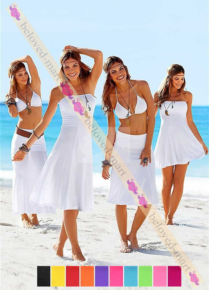 2013 Newest 11 colors Beach Cover up Dress ,Sexy Multiple Wear Swimsuit Wrapped Chest dress for Lady S-XL