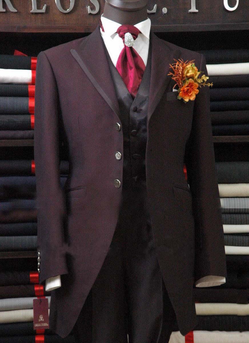 2013 Newly designed Top Quality purple Bridegroom Wedding Prom Suits/Groom Tuxedos (jacket+pants++vest)   Free shipping
