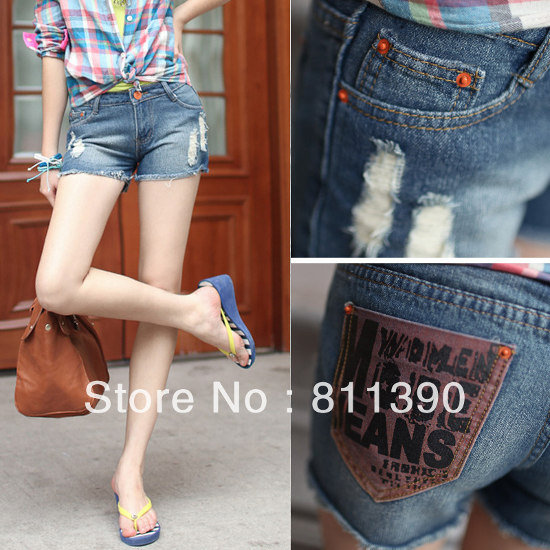 2013 NEWLY hot sale korean fashion women's denim sexy shorts vintage denim short jeans summer cheap casual pants free shipping