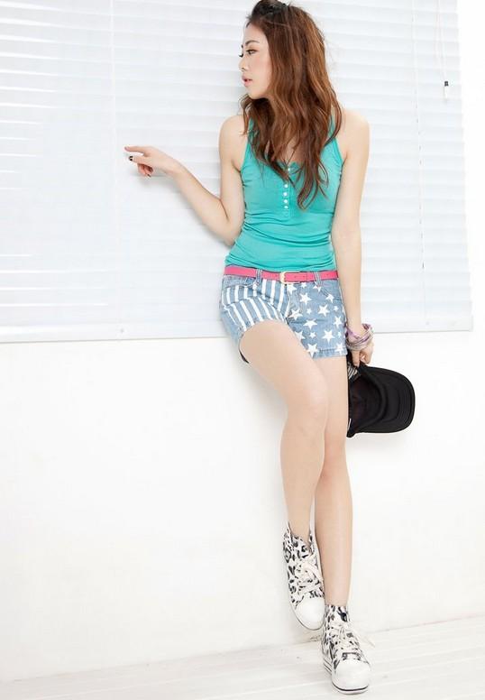 2013 Sexy Slim women shorts denim shorts shorts pattern printing