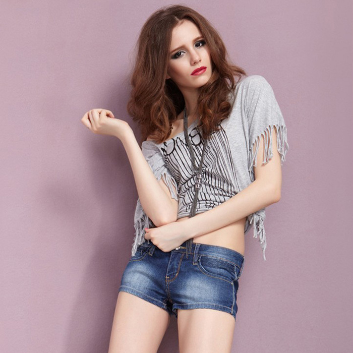 2013 Simple Style All-match Women's Shorts Sexy Jeans Korean Style for Spring & Summer Pants Free shipping WKD014