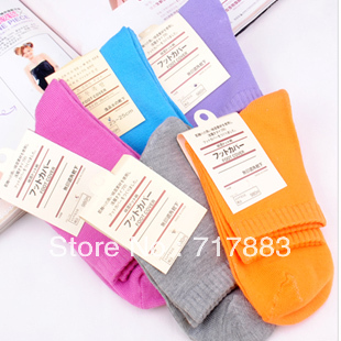 2013 Spring and Autum 100% cotton solid socks candy color women's socks,free shipping casual socks10pairs/lot