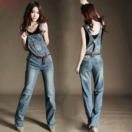 2013 spring and summer women/female fashion jeans jumpsuits plus size denim overalls high quality Casual Suspenders trousers