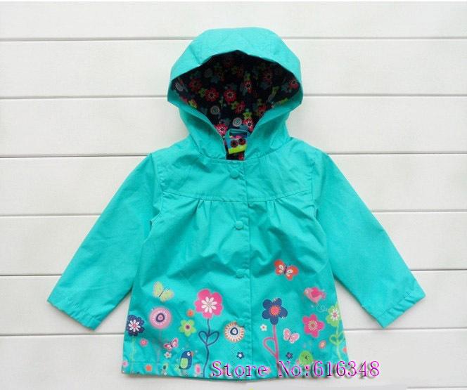 2013 spring & autumn New Arrival!Hot girls beautiful flower windbreaker jacket,export high quality Childern's outerwear & coat