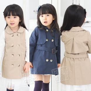 2013 spring elegant Women girls clothing baby dual trench outerwear wt-0603