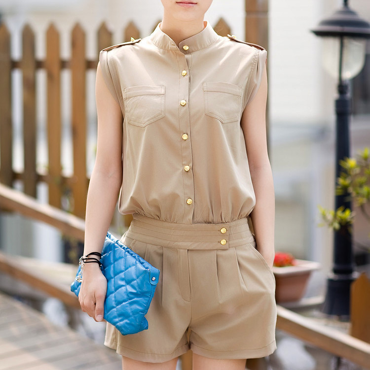 2013 spring summer women's one piece shorts women's jumpsuit casual jumpsuit WS2312