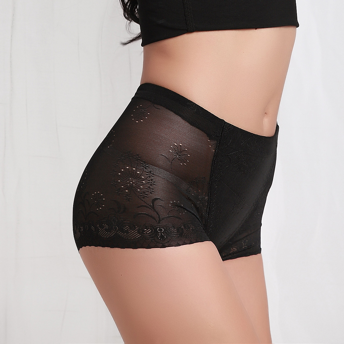 2013 spring women's mid waist body shaping panties drawing butt-lifting abdomen pants sk94 1206