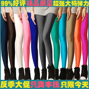 2013 stocking tights plus size legging candy neon color women's tights high stretched yoga clothing women's pants best selling