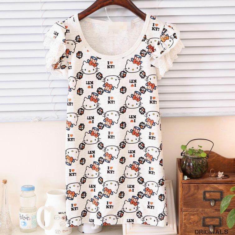 2013 summer clothing new female t-shirt printing KT Feifei sleeve Korean version 1217
