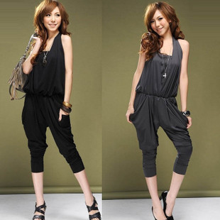 2013 Summer fashion ladies' halter-neck tube top harem pants jumpsuit overall free shipping