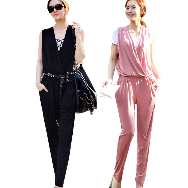 2013 Summer V-neck harem pants jumpsuit New Fashion women's trousers Good Quality 3 color option