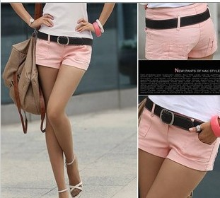2013 Summer Women Casual Denim Straight Shorts Hot Short Pants S,M,L White,Pink,Black Freeshipping