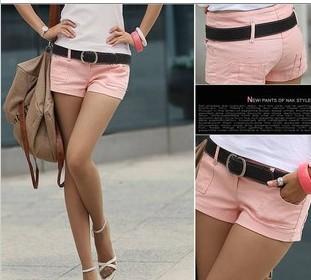 2013 Summer Women Casual Denim Straight Shorts Hot Short Pants S,M,L White,Pink,Black Freeshipping
