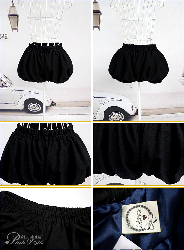 2013 sweet fashion new arrival all match lantern shorts white-black-red  8021