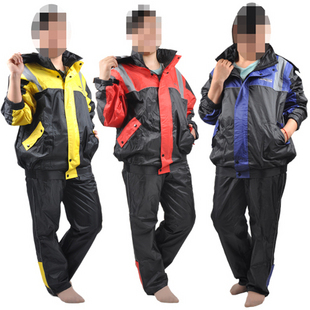 2013 Tank automobile race motorcycle raincoat rain pants set split raincoat casual sports edition