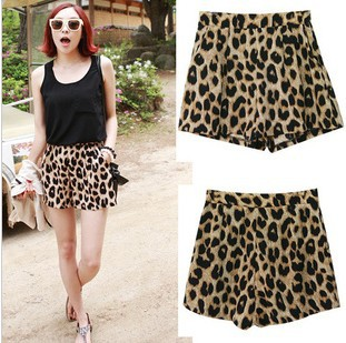 2013 The Classic Leopard leisure shorts