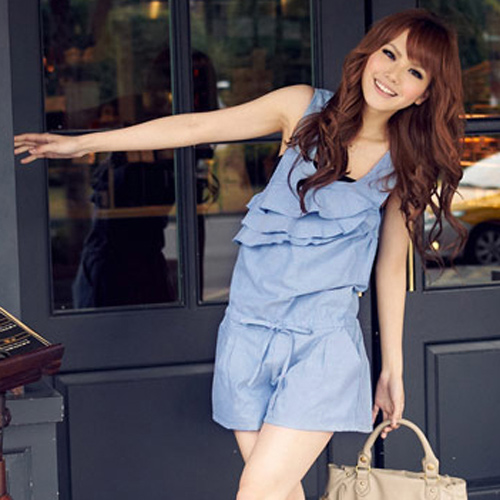 2013, women sleeveless casual  jumpsuit shorts #12207