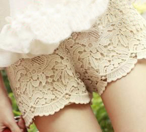 2013 Women Summer short Pants  Beautiful Lace Shorts Free Size Free Shipping