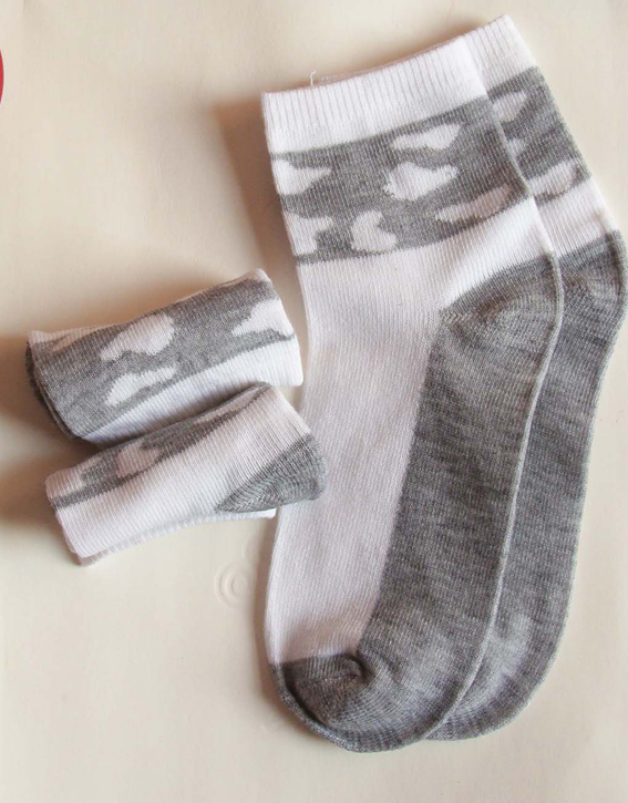 2013new style women short socks in sight sheets of cloud, cotton and poly, 10pair/lot for free shipping