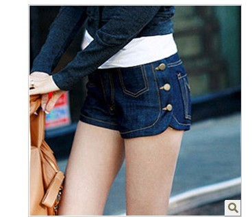 20pcs/lot Best quality Low waist women Jeans short Button denim Jeans Shorts Torn pants Dropshipping