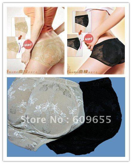20pcs/lot Buttock Pad Body Shaping Shorts Soft Sponge Raise Buttocks Women Panties Low Waist Hold Buttock Shape Panties