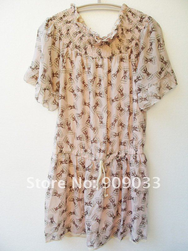 [24+1Hours][Featured]Wholesale-Women's Jumpsuit Ladies' Skirt Panties inside Chiffon 1pc Free Ship a20120902-1000