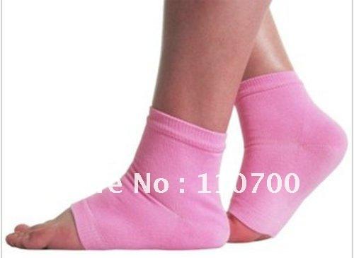 2Pairs/lot CPAM free shipping  gel socks Moisturizing gel Heel Socks prevent foot heel cracked  foot care