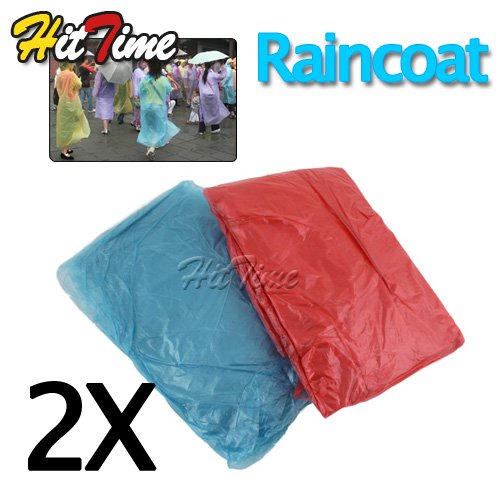 2Pcs/lot  Disposable Adult Emergency Raincoat Camping Travel  [4077|01|02]