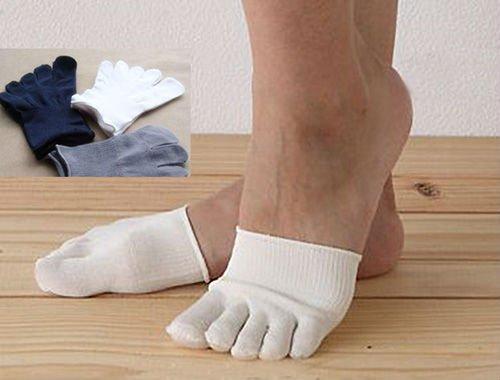 3 pcs Silk Unisex Leisure Socks Men's/Women's 5-toe-half-sock Fashion Sock HOT!!