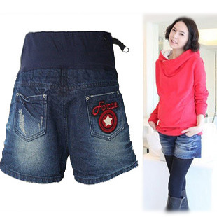 38 ! maternity clothing fashionable denim shorts maternity shorts boot cut jeans trousers