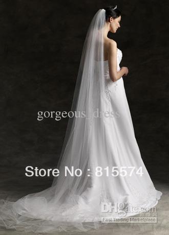 3M  Cathedral Mantilla Wedding Bride Veil w Comb