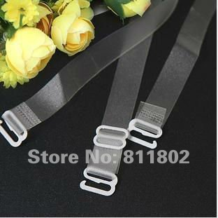 5pair  transparent Silicone Bra Strap   + free shipping