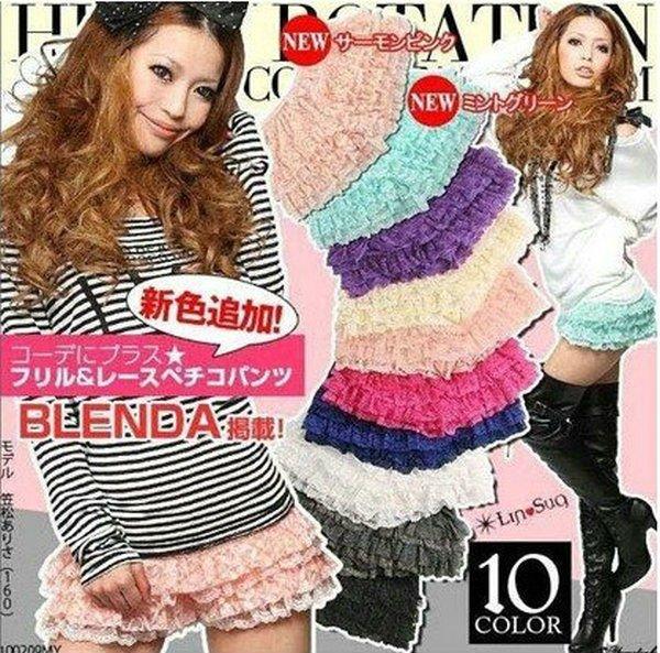 5pcs 2012 women ladies short pant Leggings short skirt Free size differnet color mix order freely