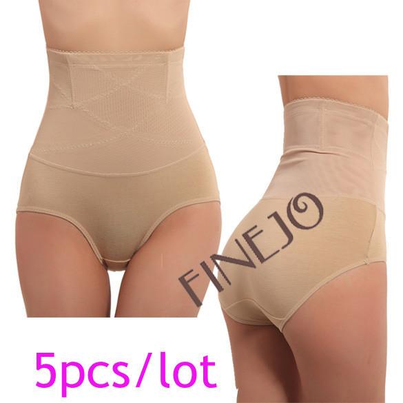 5pcs/lot free shipping Women's Body Shaper Slimming Underwear Panties Lower Abdomen Waist Panty L XL XXL7225