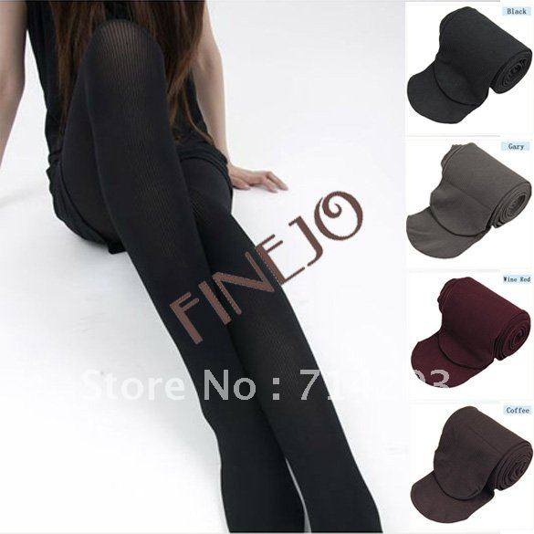 5PCS/LOT Ladies Tights Slim Vertical Twist Velvet Pantyhose Opaque Leggings Velvet Stockings 4 colors free shipping 5242
