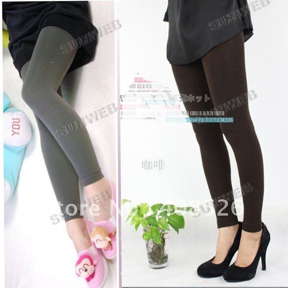 5PCS/LOT Women Warm Winter Slim Leggings Stretch Pants Thick footless tight Wholesale Price Free Shipping 3524