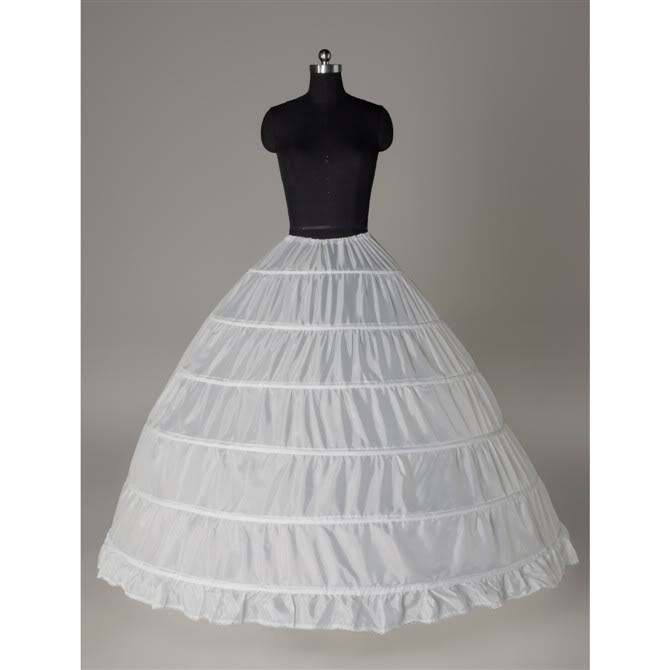 6 - HOOP white slip wedding lining cloth slip