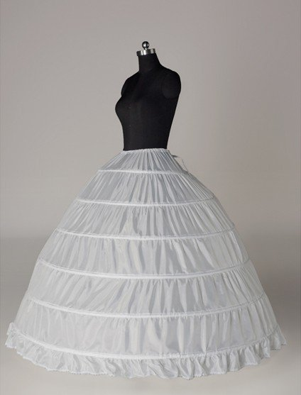 6 Hoops Bridal Wedding Petticoat Crinoline Underskirts Slip Ball Gown