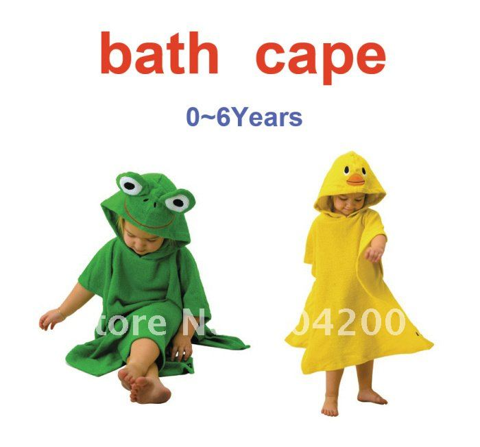 6pcs/lot- Animal cartoon modeling Baby bathrobe/kids bath robe/chidlren bathrobe/Kids Cloak/Baby Cape