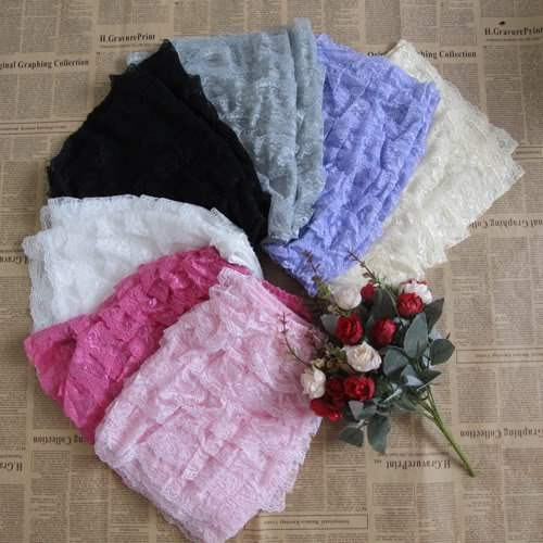7 Colors Sexy Womens Ladies Safety 8 Layers Cake Lace Shorts Pants Leggings New[040312]