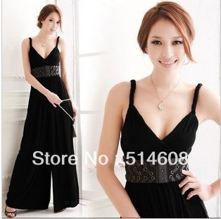 #781 Exported quality crystal cotton summer loose casual all-match jumpsuit wide leg pants bodysuit