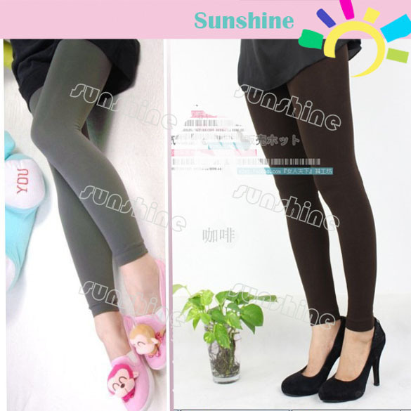 7pcs/Lot 5 Colors Pick Women Warm Winter Slim Leggings Stretch Pants Thick Footless Tight Free Shipping 3524
