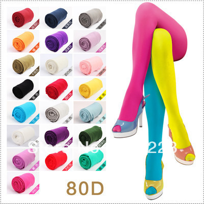 80D velvet candy colored stockings, spring and autumn lady not through flesh coloured tights all-match plu #S6501