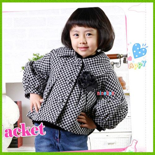 855 children's clothing 2012 winter thickening overcoat outerwear female child