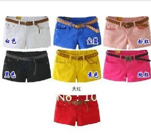 8801 # 2012 Korea sexy tight-fitting candy-colored summer shorts hot pants