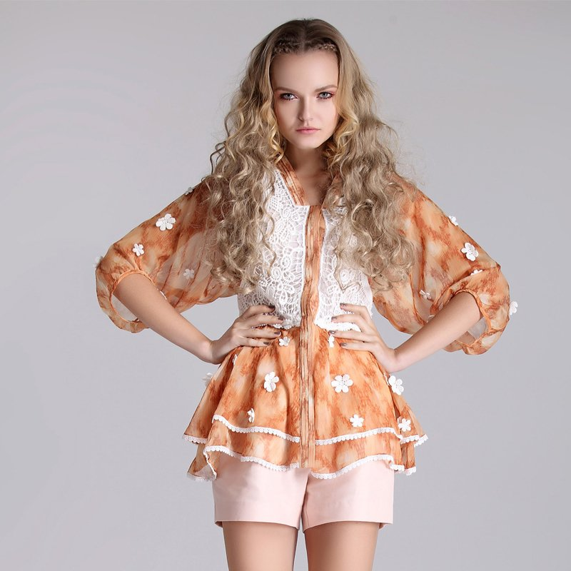 A free shipping Swise 2012 summer hot-selling orange fashion personality new arrival spring rgxzr shorts